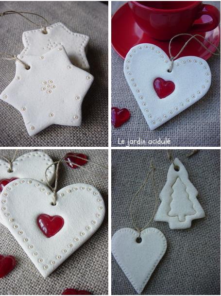 décos de Noël en pâte à sel - salt dough christmas ornaments