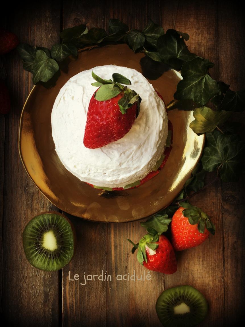 Gâteau de crêpes aux fruits 2