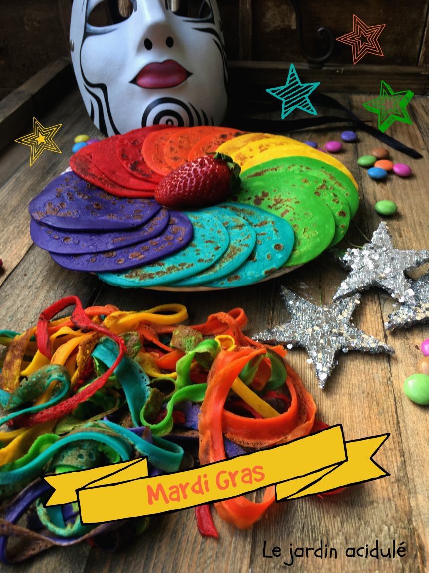 Rainbow crepe cake 3