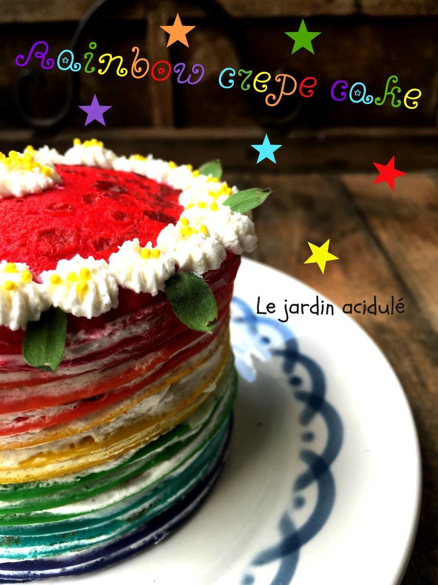 Rainbow crepe cake 7
