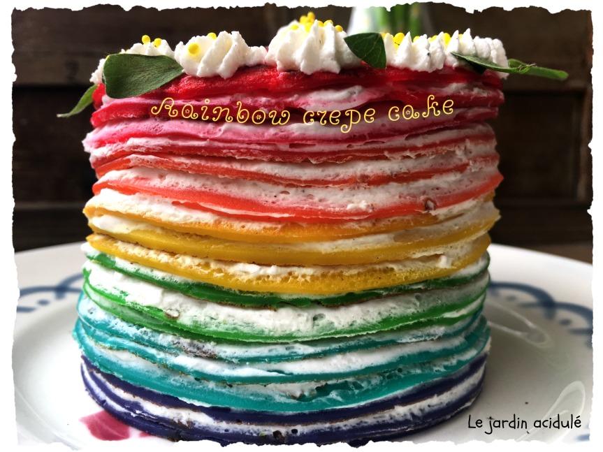 Rainbow crepe cake 9